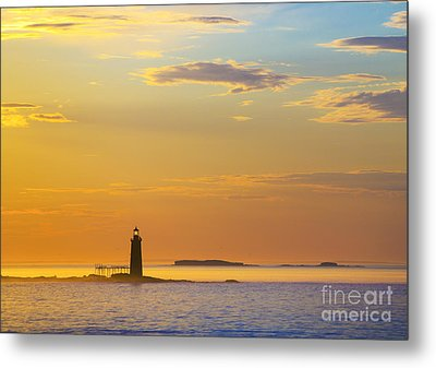 Ram Island Lighthouse Casco Bay Maine Metal Print by Diane Diederich