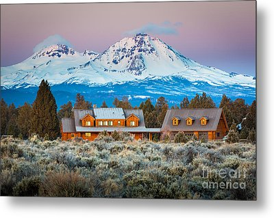 Ranch House And Sisters Metal Print by Inge Johnsson