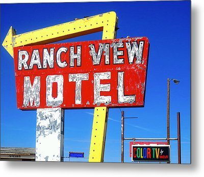 Ranch View Motel Metal Print by Gia Marie Houck