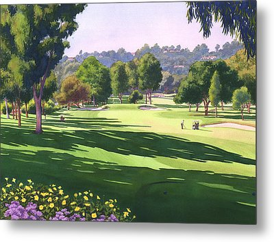 Rancho Santa Fe Golf Course Metal Print by Mary Helmreich