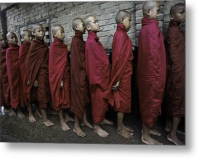 Rangoon Monks 1 Metal Print by David Longstreath