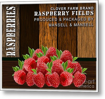Raspberry Fields Forever Metal Print by Marvin Blaine