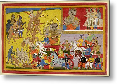 Ravana Sets Out To Battle Metal Print by British Library