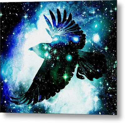 Raven Metal Print by Anastasiya Malakhova