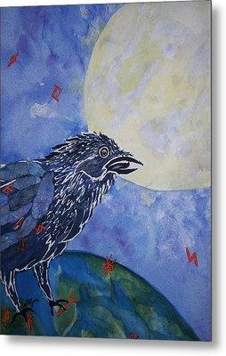 Raven Speak Metal Print by Ellen Levinson