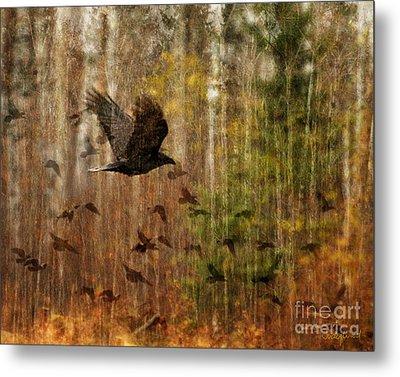 Raven Wood Metal Print by Judy Wood