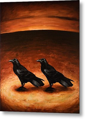 Ravens Metal Print by Mark Zelmer