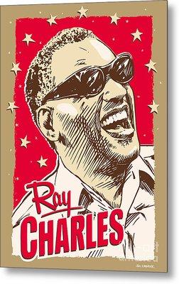 Ray Charles Pop Art Metal Print by Jim Zahniser