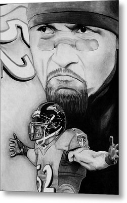 Ray Lewis Metal Print by Jason Dunning