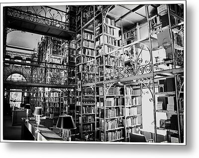 Reading Room At Cornell University Metal Print by Georgia Fowler