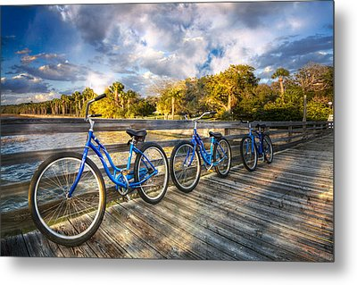 Ready To Ride Metal Print by Debra and Dave Vanderlaan