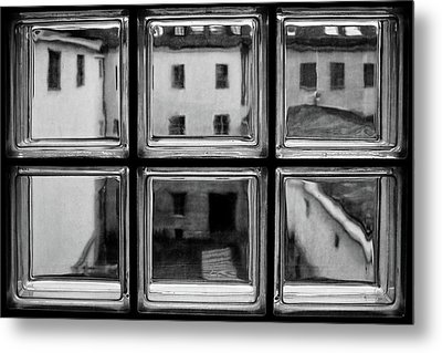 Rear Window Metal Print by Roswitha Schleicher-schwarz