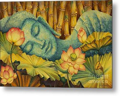 Reclining Buddha Metal Print by Yuliya Glavnaya