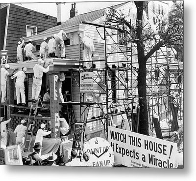 Record House Painting Speed Metal Print by Underwood Archives