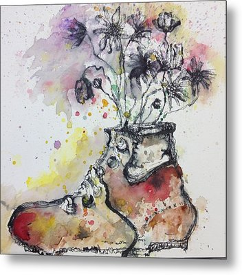 Recycle Shoes Metal Print by Isaac Alcantar
