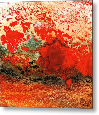 Red Abstract Art - Lava - By Sharon Cummings Metal Print by Sharon Cummings