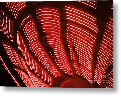 Red Abstract Light 15 Metal Print by Tony Cordoza