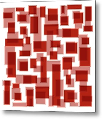 Red Abstract Patches Metal Print by Frank Tschakert