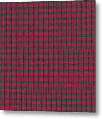Red And Black Plaid Pattern Textile Background Metal Print by Keith Webber Jr