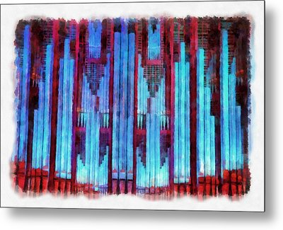 Red And Blue Metal Print by Jenny Setchell