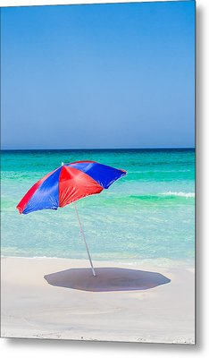 Red And Blue Metal Print by Shelby  Young