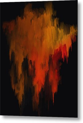 Red And Gold 1 Metal Print by Michael Pickett