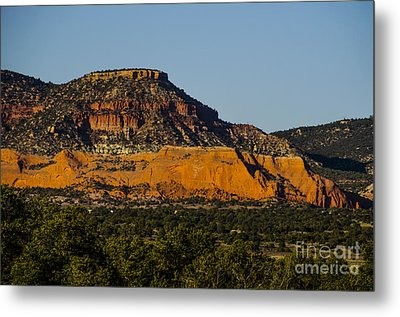 Red And Green Plateau New Mexico Metal Print by Deborah Smolinske