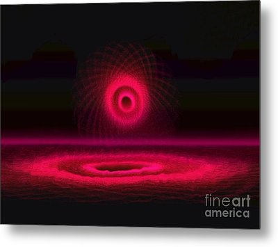Red And Magenta Circle  Metal Print by Amanda Collins