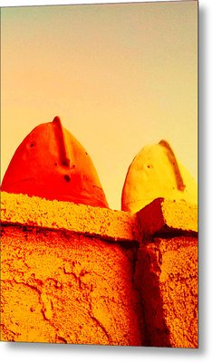 Red And Yellow Vigils  Metal Print by Mark M  Mellon