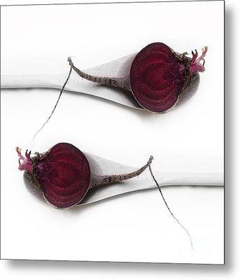 Red Beets Metal Print by Priska Wettstein