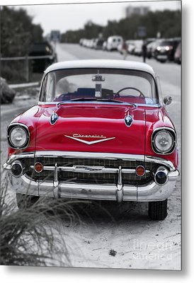 Red Belair At The Beach Standard 11x14 Metal Print by Edward Fielding