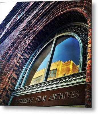 Red Brick Reflection Metal Print by Natasha Marco