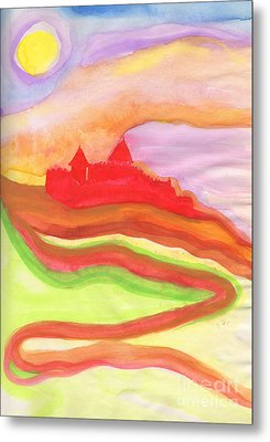 Red Castle Metal Print by First Star Art