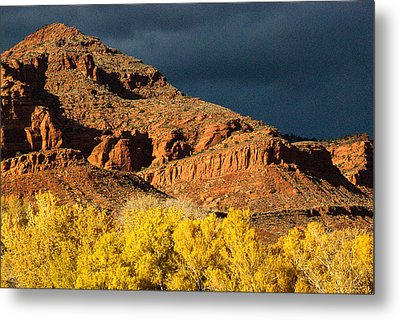 Red Cliffs National Recreation Area Fall Colors Leeds Utah Metal Print by Robert Ford