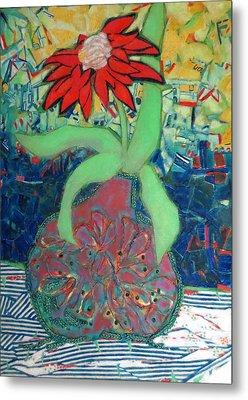 Red Diasy Metal Print by Diane Fine