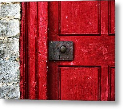 Red Door Metal Print by Steven  Michael