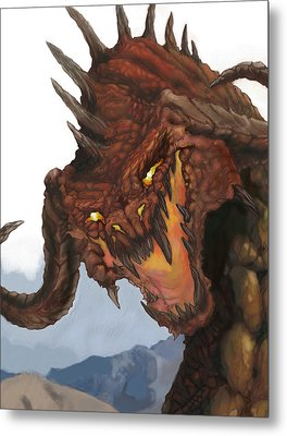 Red Dragon Metal Print by Matt Kedzierski