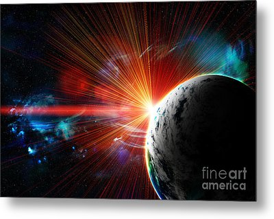 Red Earth The Blue Planet Metal Print by Boon Mee