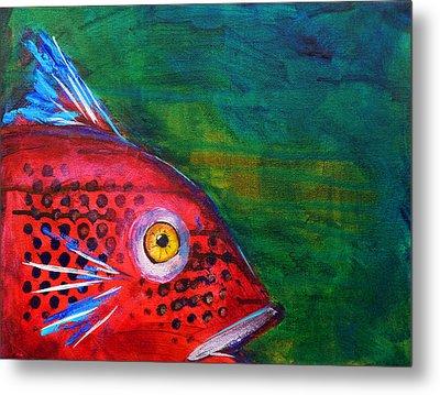 Red Fish Metal Print by Nancy Merkle