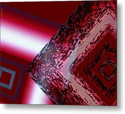Red Fusion Metal Print by Mario Perez