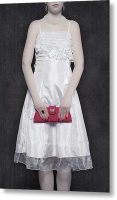 Red Handbag Metal Print by Joana Kruse