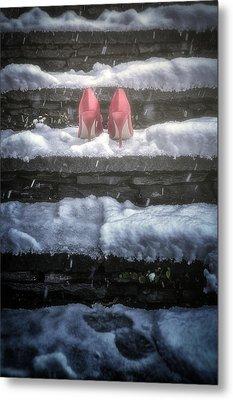 Red High Heels Metal Print by Joana Kruse