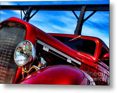Red Hot Rod Metal Print by Olivier Le Queinec