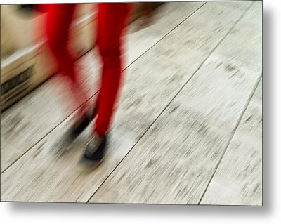 Red Hot Walking Metal Print by Karol Livote