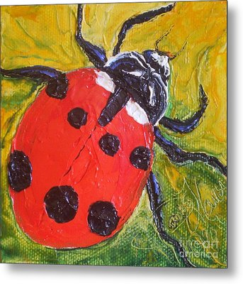 Red Ladybug Metal Print by Paris Wyatt Llanso