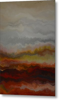 Red Landscape  Metal Print by Andrada Anghel