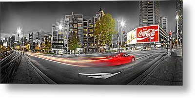 Red Lights Sydney Nights Metal Print by Az Jackson
