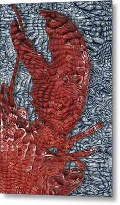 Red Lobster Metal Print by Jack Zulli