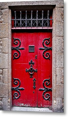 Red Medieval Door Metal Print by Elena Elisseeva
