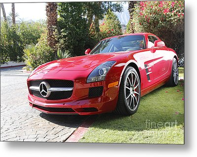 Red Mercedes Benz Metal Print by Nina Prommer